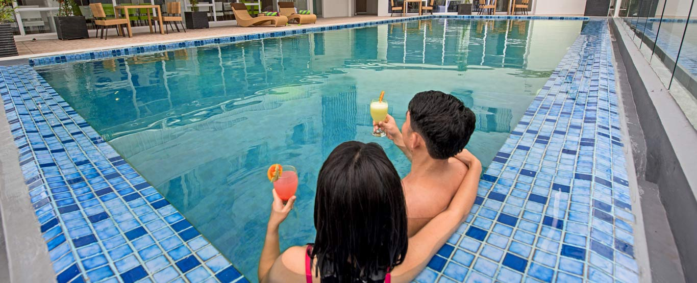 Swimming Pool of Whiz Prime Hasanuddin Makassar