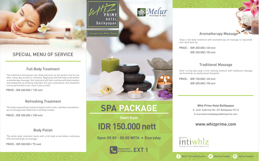 Massage and Spa on Whiz Prime Hotel Balikpapan